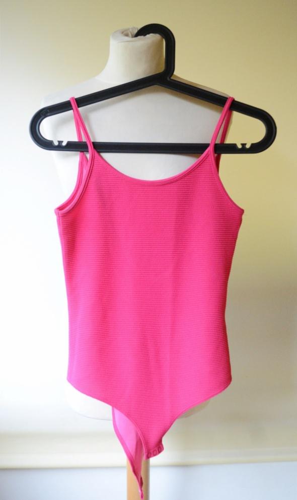 Body Różowe Prążki H&M Sexy S 36 Odkryte Plecy...
