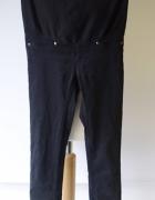 Spodnie H&M Mama Granatowe Rurki Ciążowe XS 34 Tregginsy...