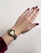 zegarek złoty na bransolecie serce serduszko...