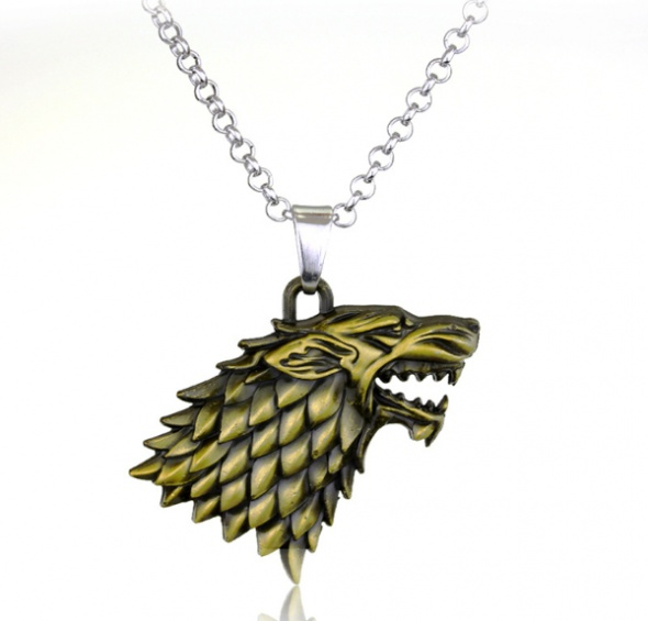 Naszyjniki Wiedźmin Wilk Antyczny Viking naszyjnik Biżuteria Serial WITCHER Game of Thron