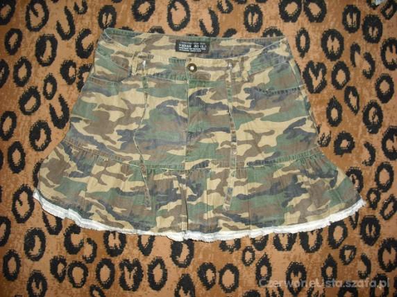 Spódnice militarna spodniczka z falbanka