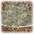 militarna spodniczka z falbanka