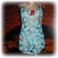 sexy komplet w kwiaty koszulka plus stringi