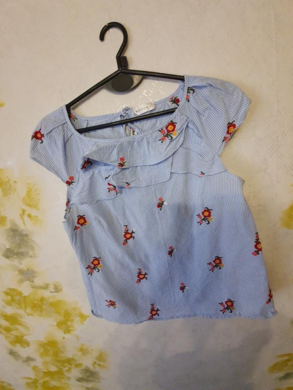 Koszula taliowana kwiaty