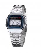 Retro zegarek na bransolecie w kolorze srebrnym...