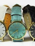Damski Zegarek Geneva Pikowany skórzany Pasek 24h
