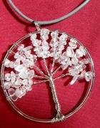 Drzewko z kryształem wisior wire wrapping...