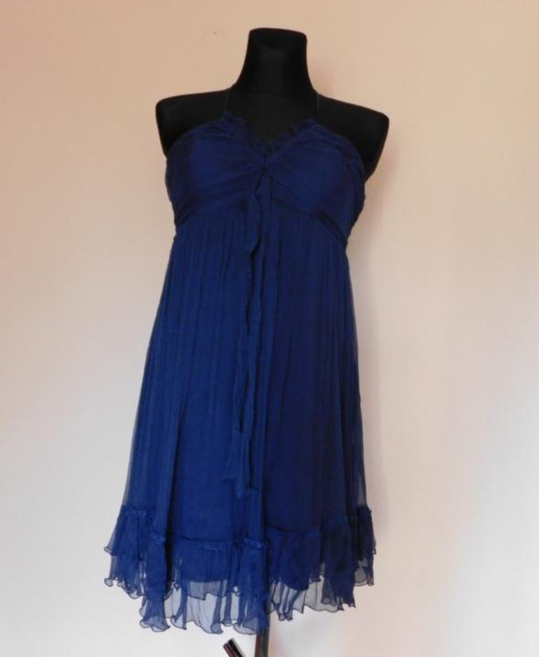Suknie i sukienki Asos sukienka mini jedwab 42