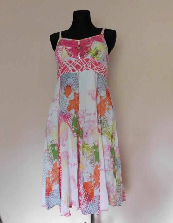 Klass kolorowa sukienka midi 38