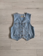 Kamizelka jeansowa S M basic must have...