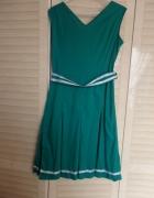 sukienka bawełniana jasna butelkowa zieleń...