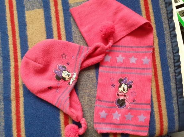 Komplet czapka szalik Myszka Minnie