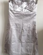 JAPAN STYLE sukienka srebrna dopasowana mini bez ramiączek rozm...