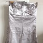 JAPAN STYLE sukienka srebrna dopasowana mini bez ramiączek rozm XXS 32 NOWA