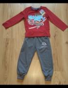 Nowy dres chłopięcy komplet spodnie dresowe samol...