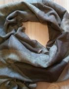 Nowy szal szalik akrylowy beżowo brązowy duży...