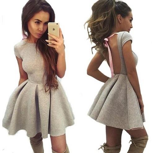 Nowość piankowa sukienka wiązana kokardka