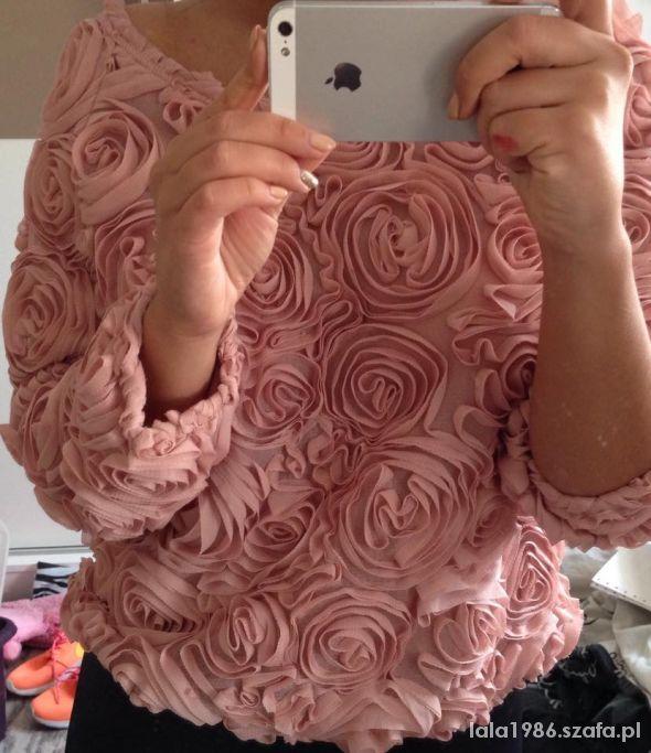 Bluzka Bluza róże 3d kwiaty BLOG