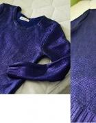 HM poszukiwany metaliczny sweter xs s fiolet...