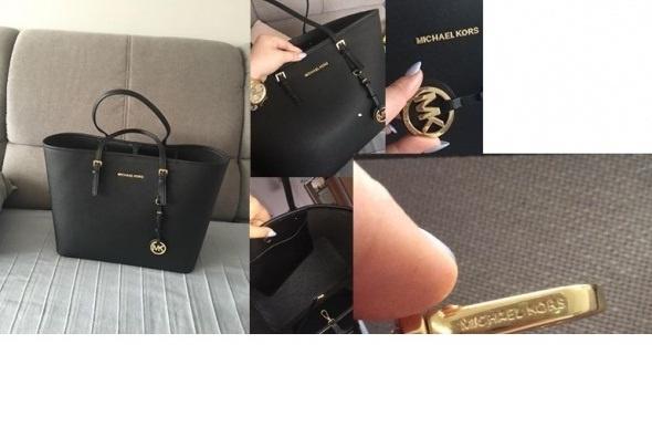 Duża czarna torba shopper bag 5 kolorów jet set...