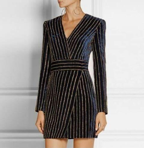 Elegancka welurowa sukienka tunika zobacz