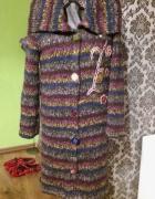 Kolorowy długi sweter 36...