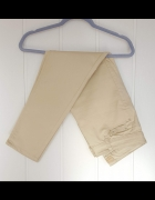 Kremowe spodnie jeansy dżinsy 40 L krótkie skinny proste vintag...