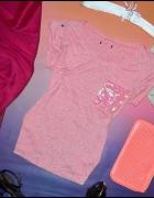 różowa koszulka george...