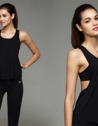 koszulka bokserka czarna fitness sport s m