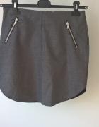 Szara mini spódniczka z zameczkami H&M...