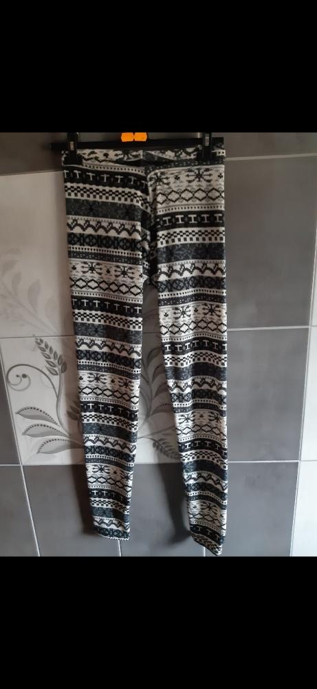 Legginsy spodnie damskie we wzory L XL