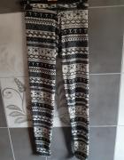 Legginsy spodnie damskie we wzory L XL...