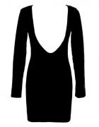 ISABEL MARTIN czarna sukienka ODKRYTE PLECY 34 36