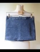 Spódniczka Jeans Dzinsowa Bershka L 40 Mini Dzins...