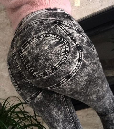 Cudowne legginsy JEANS MARMUR GRAFIT