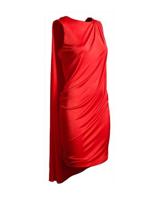 Sukienka H&M Versace 36 S czerwona mini cyrkonie elegancka...