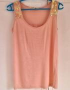 Top Troll 36 S bluzka koszulka łososiowa rożowa brzoskwiniowa c...