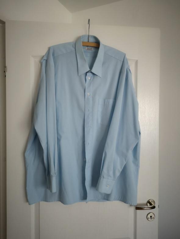 Koszula męska niebieska błękitna kołnierzyk 48