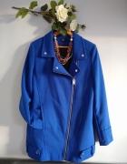 Kobaltowy chabrowy płaszcz wiosenny...