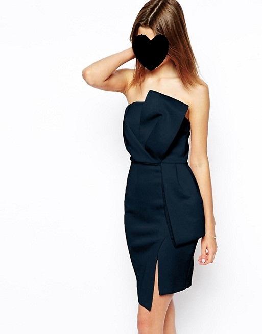 Asos sukienka mala czarna z kokarda 44 46 xxxl xxl...