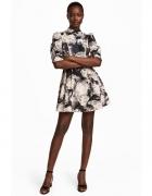 Sukienka styl vitage kwiaty H&M floral bufiaste rękawy 38...