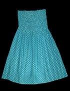 Sukienka rozkloszowana grochy H&M roz 38