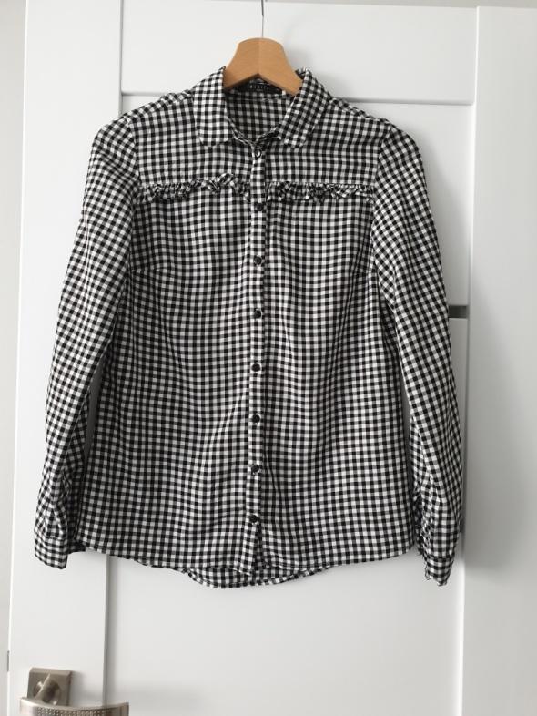Koszula w kratkę biało czarną