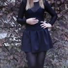 czarna rozkloszowana spódniczka S
