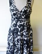 Sukienka Wzory Biała Czarna Lindex XL 42 Elegancka...