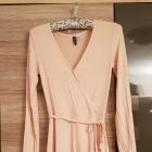 Sukienka H&M wiskoza nude r XS S pudrowa