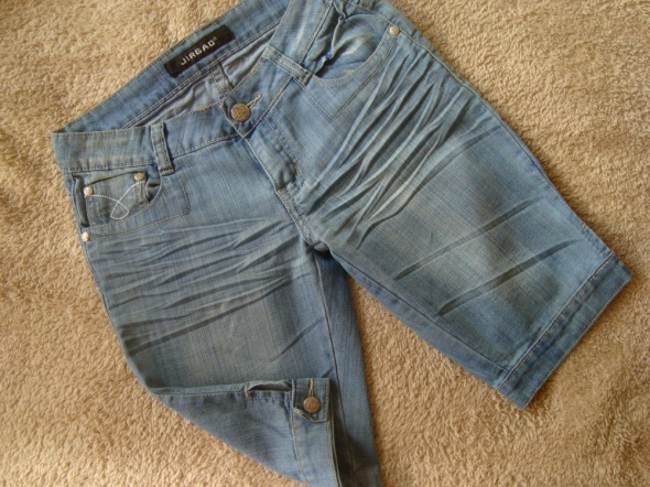 Spodenki Jasno Niebieskie Jeansowe Rybaczki S