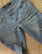 Jasno Niebieskie Jeansowe Rybaczki S...