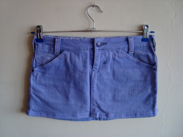 Fioletowa Spódnica Mini Jeans Cropp Town S...