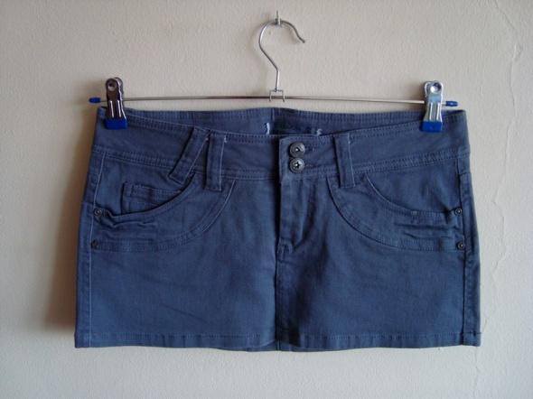 Szara Spódnica Mini Jeansowa Terranova S...